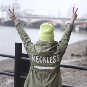 [ASOS] Parka With Reckless Print